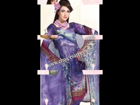 Printed Salwar Kameez, Latest Designer Suits, Casual Churidar Kameez