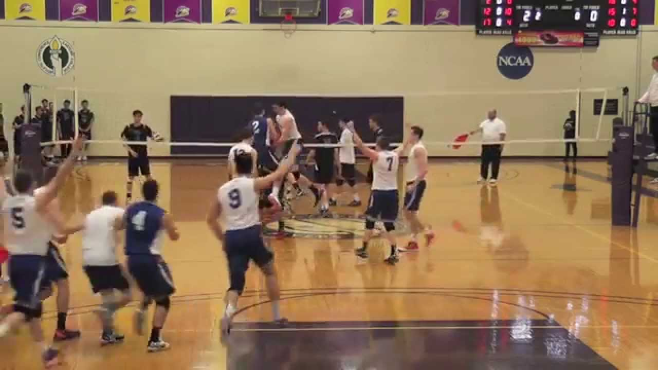 2014 New Paltz Men's Volleyball Highlights - YouTube