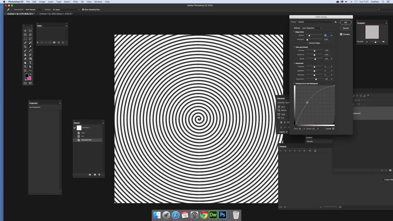 Create spirals in Photoshop CC (Intermediate) tutorial
