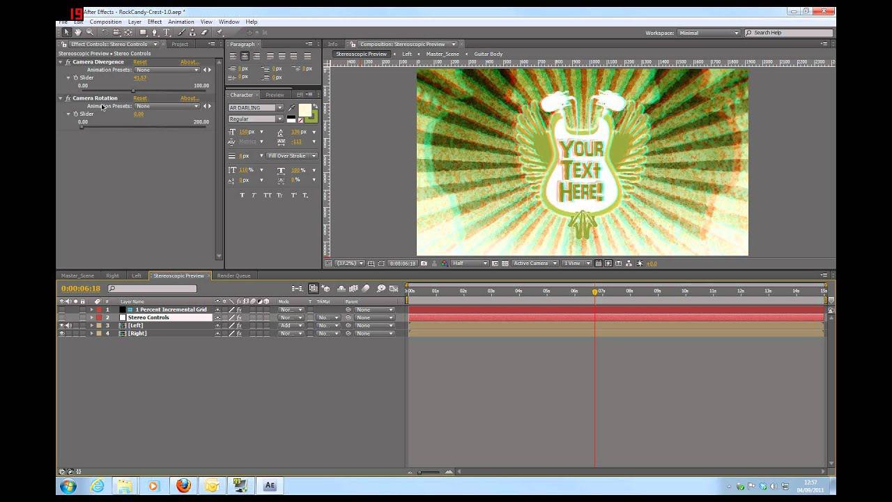 RockCandy 3D Singlez - After Effects CS4 Stereoscopic Template ...
