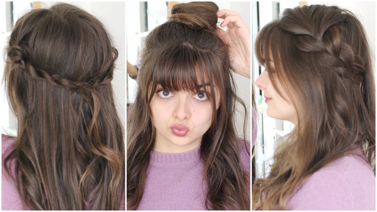 ways to style hair for school three five minute hairstyles back to school 6507