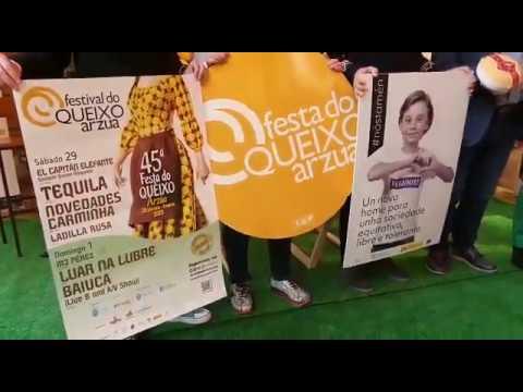 Novedades Carminha, Tequila o Baiuca, en la Festa do Queixo de Arzúa