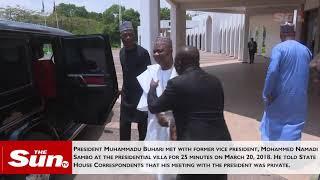 President Buhari receives Namadi Sambo in Abuja thumbnail