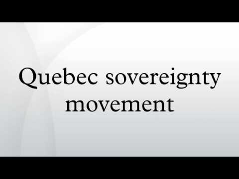 Quebec sovereignty movement