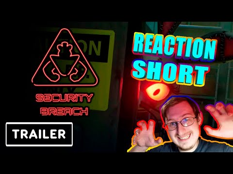 FNAF Security Breach Gameplay Trailer Reaction #shorts
