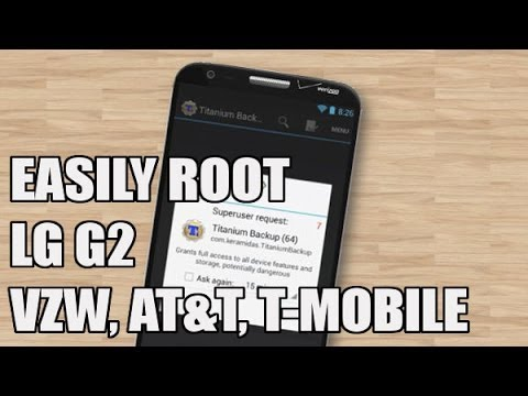 How to: LG G2 Root Verizon (also work for T-Mobile, AT&T, Bell and Rogers variants) - YouTube