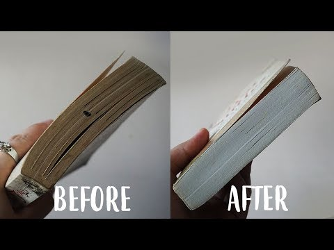 How To Clean Your Book Edges Hack