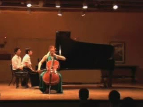 Anna Burden, cello, Schumann Concerto 1st mv part 1