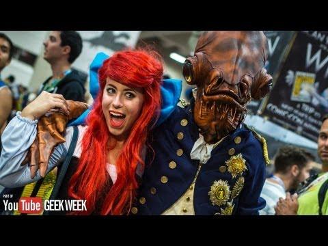 Adam Savage Incognito as Admiral Ackbar at Comic-Con 2013 (Geek Week!)