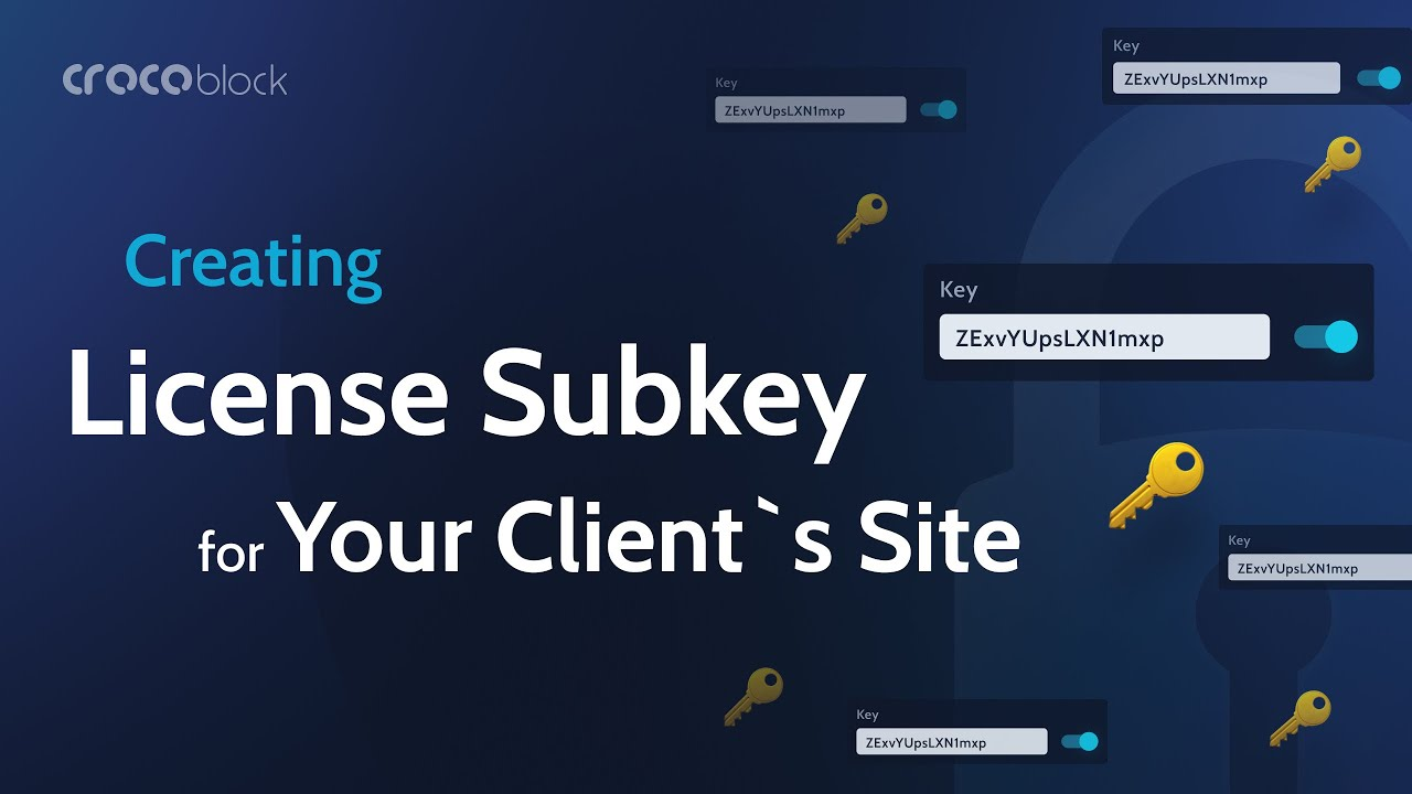 How to create License Subkey for your client's site | Crocoblock