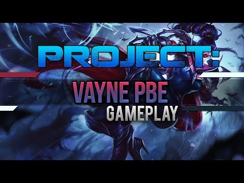 Project: Vayne Skin Full PBE Gameplay [League of Legends] [Deutsch / German]