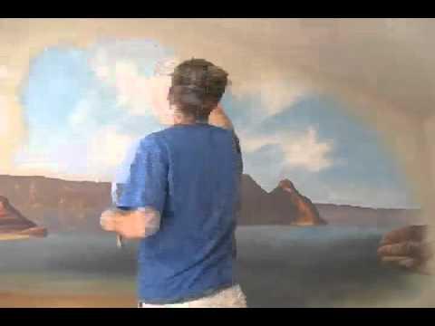 Painting a beach scene mural joe youtube for Mural joe painting