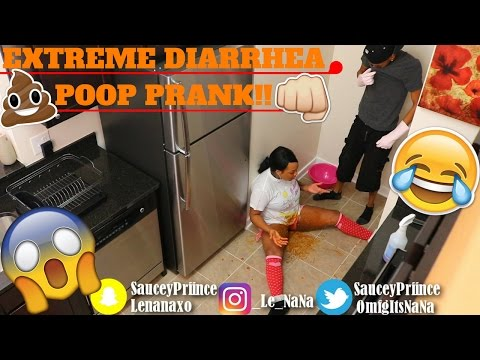 EXTREME DIARRHEA POOP PRANK!!! *MUST WATCH** (He Vomits!!)