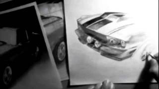 1967 Shelby Mustang Gt500 Speed Drawing