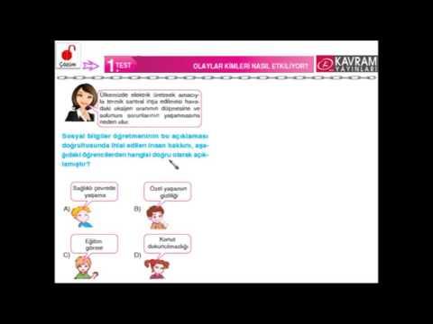 6  SINIF SOSYAL BİLGİLER SORU BANKASI 1  ÜNİTE SOSYAL BİLGİLER ÖĞRENİYORUM 1  TEST OLAYLAR KİMLERİ N