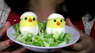 Deviled Egg Chicks Recipe | Easter Recipe | Mom's Recipe For Kids
