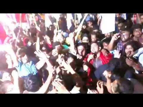 JNUSU Elections 2016-17 : Scene immediately after the declaration of final results