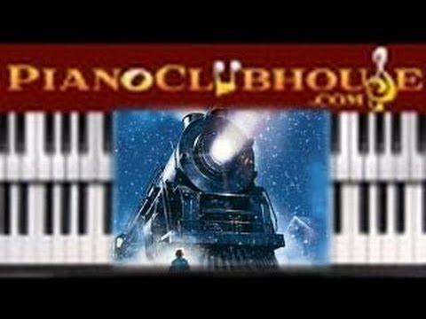 """♫ How to play """"BELIEVE"""" - Polar Express Soundtrack (piano tutorial lesson)"""