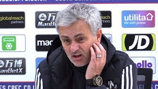 Crystal Palace 2-3 Manchester United - Jose Mourinho Full Post Match Press Conference