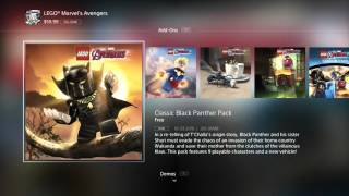 lego marvel avengers : go to store and download black panther dlc