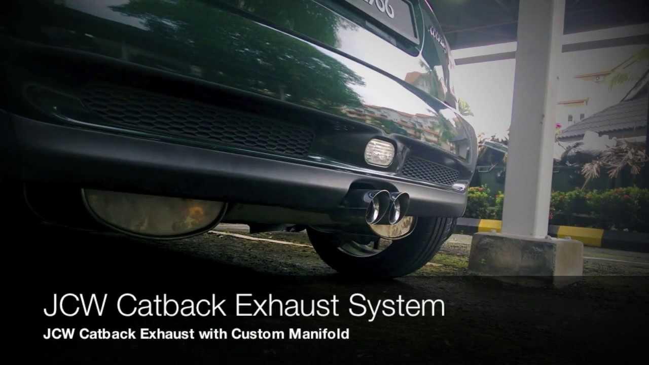 R53 Mini Cooper S Jcw Exhaust Sound Vs Stock Youtube
