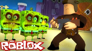 EVIL SPONGEBOB ZOMBIE ATTACK IN ROBLOX! (Roblox Terror in Bikini Bottom Ep 1)