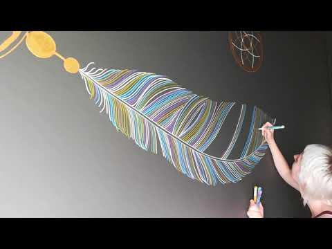 Dream Catcher. Wall Art by Alexandra Lorelei. Yoga Studio Kookon, Estonia.