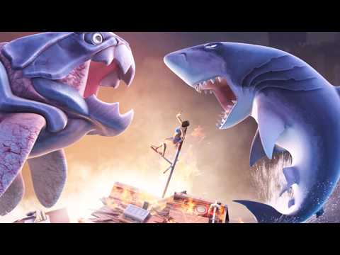 Sea Monster Battles! Megalodon vs Dunkleosteus - Jurassic World