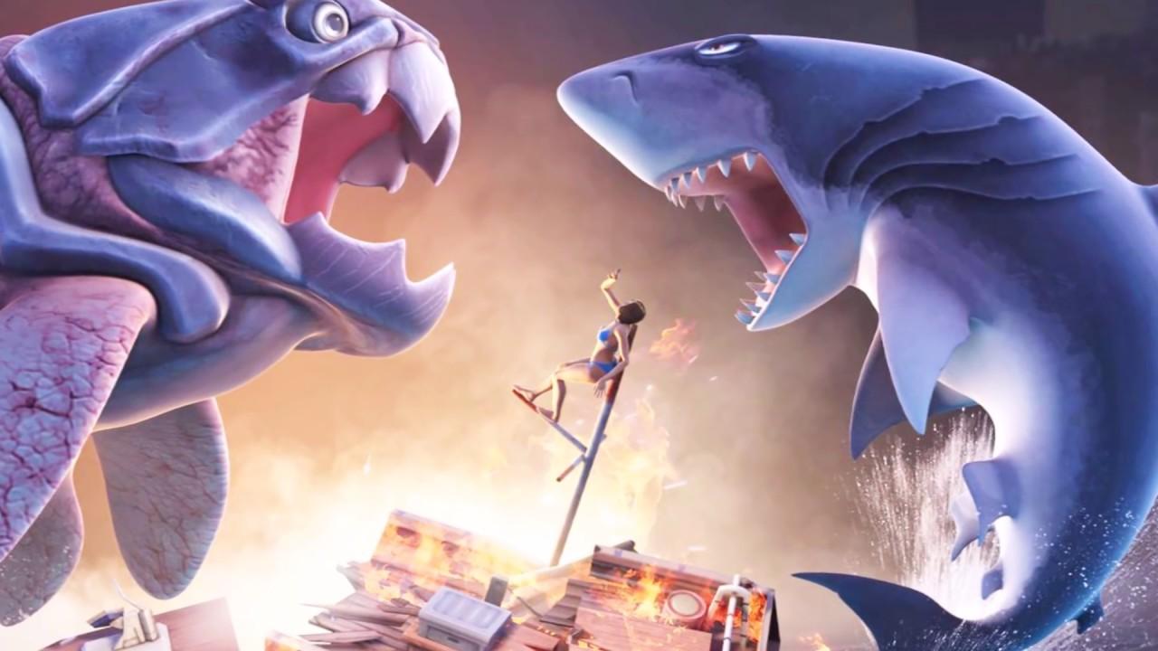 Sea Monster Battles! Megalodon vs Dunkleosteus - Jurassic World ...