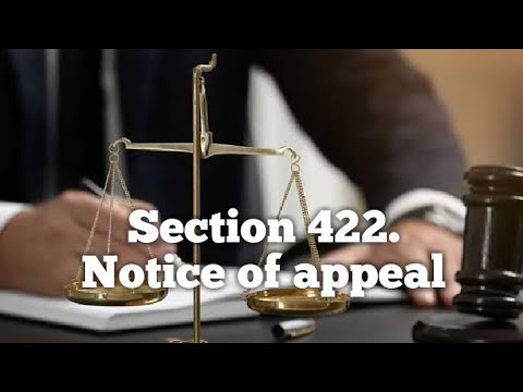 Section 422. Notice of appeal - YouTube