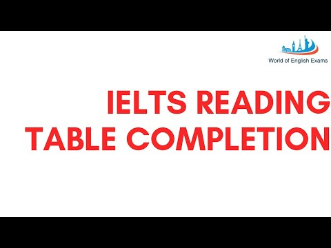 IELTS READING | TABLE COMPLETION