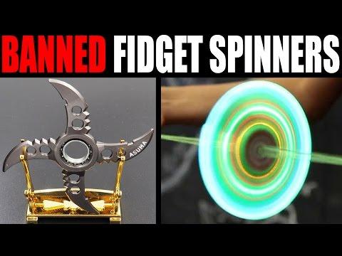 BANNED FIDGET SPINNERS VS DIY FIDGET SPINNERS (*DANGER*)