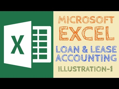 Loan & Lease Accounting | Illustration 1 | Microsoft Excel
