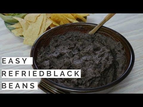 Easy Refried Black Beans ~ Vegan/GF