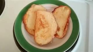 Гренки на завтрак из батона (быстро и вкусно)