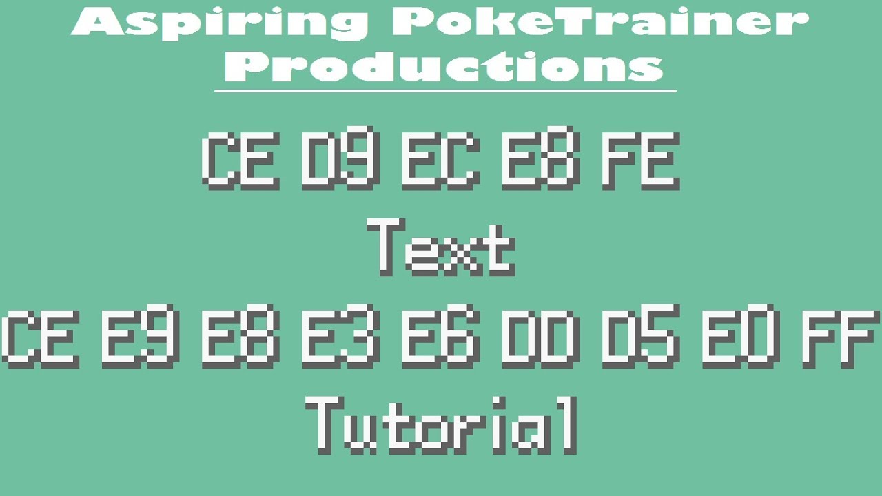 Edit Text Without Advance Text   Tutorial Pokemon Rom Hack