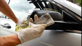 Magic Eraser Detailing part 2 removing transfer from side mirrors