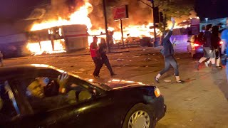 Minneapolis Riot compilation 6 story Building COLLAPSE from intense Fire Looting / insane vandalism.