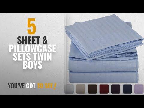 Top 10 Sheet & Pillowcase Sets Twin Boys 2018: Mellanni
