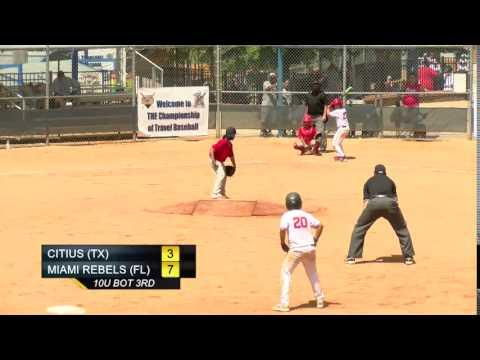 10U TEAM CITIUS TX 3 vs MIAMI REBELS FL 8