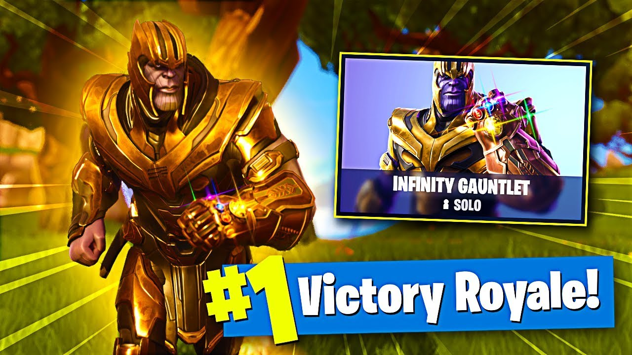 16 kill win on fortnite new gamemode infinity gauntlet as thanos fortnite infinty war update - new gamemode fortnite