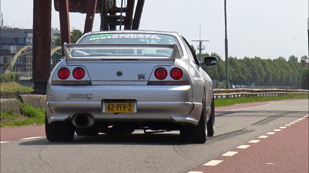 565HP Nissan Skyline GTR R33 V-Spec - Anti-Lag Sound! - YouTube