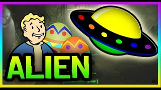 Fallout 4 Easter Eggs: SECRET SPACESHIP, ALIEN & ALIEN BLASTER GUN! (Fallout 4 Secrets)