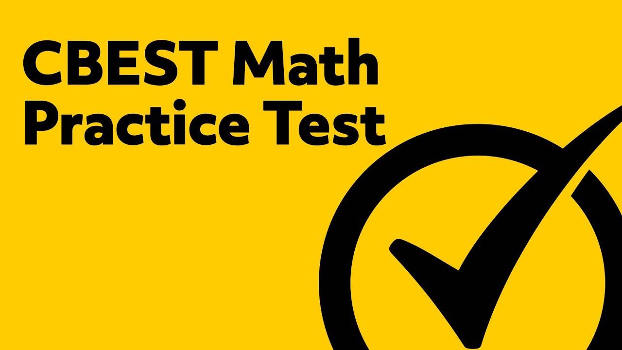Free CBEST Math Practice Test - YouTube