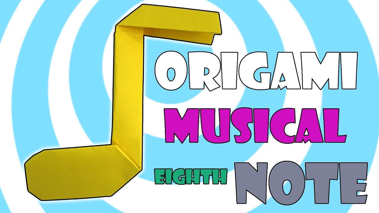 origami music note tutorial origami handmade