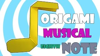 DIY Origami Music Eighth Note Video Instructions