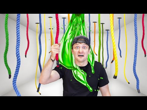 100 Mystery Ropes.. Only 1 Lets You Escape!