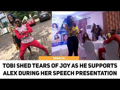 BBNAIJA: Tobi Is Proud Of Alex As He Shed Tears Of Joy During Her Speech Presentation [Full HD]