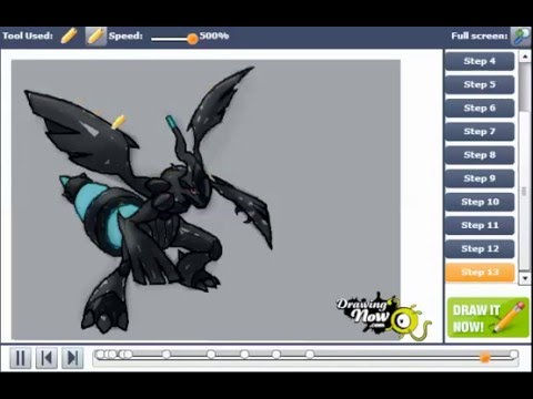 How to draw zekrom from pokemon youtube how to draw zekrom from pokemon ccuart Images
