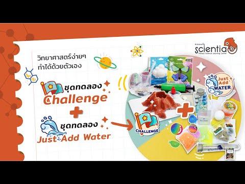ชุดทดลองวิทยาศาสตร์ เรียนรู้แบบลงมือทำ Just Add Water และ Challenge  ฺBy Scientia
